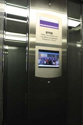 LCD видео-монитор в панели приказов